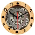 Maples Clock 6.25'' Moving Gear Wall Clock