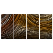 All My Walls Connecting Rings III by Ash Carl Metal Wall Art; Brown