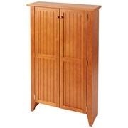 Manchester Wood Tall Double Jelly Cabinet; Golden Oak