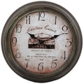 Privilege 18.5'' Bordeaux Wall Clock