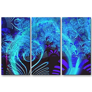 All My Walls 'Blue Garden' by Victoria Brago 3 Piece Graphic Art Plaque Set