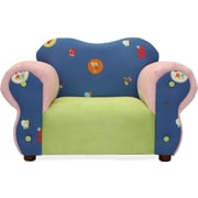 Fantasy Furniture Comfy Kid's Club Chair; Pink/Blue / Flowers