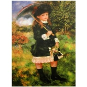 Oriental Furniture 'Young Girl with Parasol' by Renoir Painting Print on Wrapped Canvas