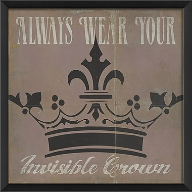 The Artwork Factory Always Wear Your Invisible Crown Framed Graphic Art; Pink