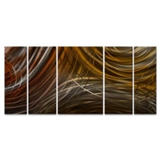 All My Walls Connecting Rings II Metal Wall Art; Brown
