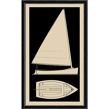 Melissa Van Hise Sailboat I Framed Graphic Art