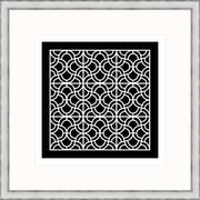 Melissa Van Hise Geometric 2 Framed Graphic Art; Black