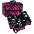 Seya Professional Makeup Case; Pink Zebra