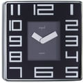 Opal Luxury Time Products Stainless Steel Square Case Wall Clock; Black
