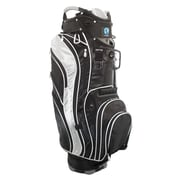 NuSport Genesis Cart Bag in Black and Silver; Black and Silver