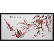 Oriental Furniture Plum Blossoms Framed Painting Print