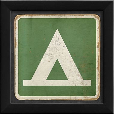 The Artwork Factory Sign Camping Framed Graphic Art; Green