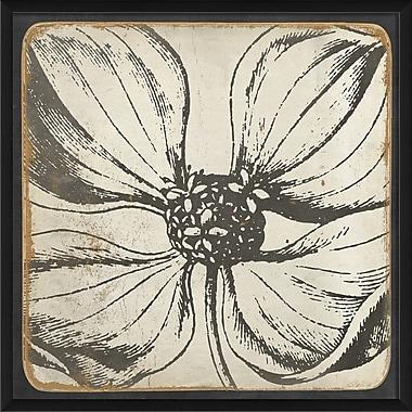 The Artwork Factory Vintage Flower Framed Painting Print in Black