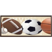 Illumalite Designs Mixed Sports Ball Framed Graphic Art; Tan