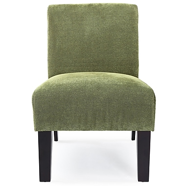 DHI Deco Solid Fabric Slipper Chair; Green