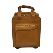 Piel Entrepreneur Vertical Office Boarding Tote; Saddle