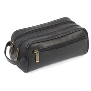 Claire Chase Leather Travel Kit; Black