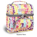 J World Corey Lunch Bag; Squares Neon