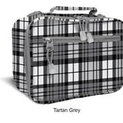 J World Cody Lunch Bag with Shoulder Strap; Tartan Grey