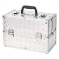 TZ Case Pro Case with 4 Extendable Trays, Dividers & 6 Bottom Compartments; Silver Dots
