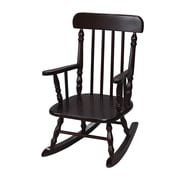 Gift Mark New Style Spindle Kids' Rocking Chair; Espresso