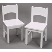 Gift Mark Kid's Chair (Set of 2); White