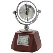 Dacasso Birchwood and Metal Global Clock