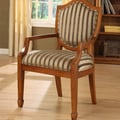 Williams Import Co. Occasional Stripe Fabric Arm Chair