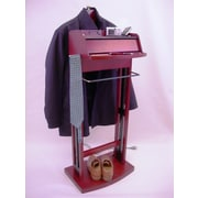 Proman Excalibur Charging Valet Stand; Cherry