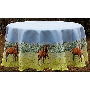 Betsy Drake Interiors Horse Round Tablecloth; 58'' W Round