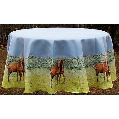 Betsy Drake Interiors Horse Round Tablecloth; 68'' W Round