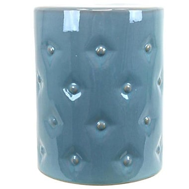 Urban Trends Ceramic Garden Stool; Light Blue