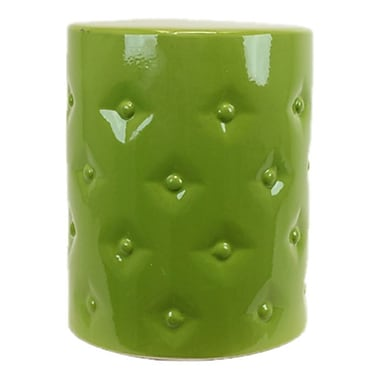 Urban Trends Ceramic Garden Stool; Green