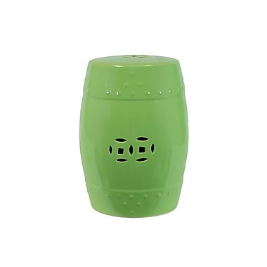 Urban Trends Ceramic Garden Stool; Chartreuse Green