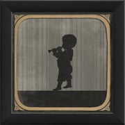 The Artwork Factory Boy Playing Horn Framed Graphic Art