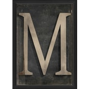 The Artwork Factory Letter M Framed Textual Art
