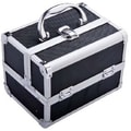 Aosom Mini Cosmetics Train Case; Black