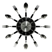 Home Essentials and Beyond 17'' Bezel Utensil Wall Clock