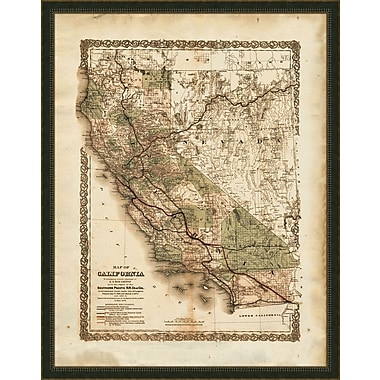 Melissa Van Hise California Framed Graphic Art