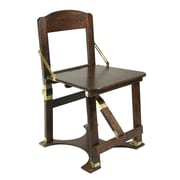 Spiderlegs Folding Side Chair; Mahogany