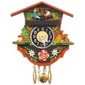 Black Forest Teeter Totter Chalet Wall Clock