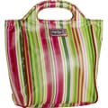 Hadaki Insulated Lunch Pod Printed Coated in Monkey Stripes; Jazz Stripes Ruby