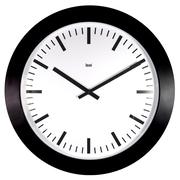 Bai Design Oversized 26'' Jumbo Railroad Wall Clock