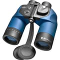 Barska 7x50 WP Deep Sea Porro Binoculars, with Internal Rangefinder and Compass, Bak-4, Blue Lens