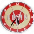 American Retro Double Bubble 14.5'' Elgin Bicycle Wall Clock