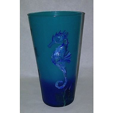 Womar Glass Sea Horse Vase