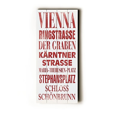 Artehouse LLC Vienna Transit by Cory Steffen Textual Art Plaque