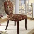 InRoom Designs Circle Slipper Fabric Side Chair