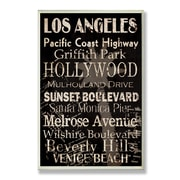 Stupell Industries Home D cor Los Angeles Cities and Words Rectangle Textual Art Plaque