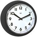 Bai Design 8.3'' Too Cool for School Retro Modern Wall Clock; Black